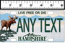 CUSTOM PERSONALIZED ALUM BICYCLE STATE LICENSE PLATE-NEW HAMPSHIRE MOOSE