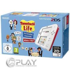 Nintendo 2DS Blanca/Roja + Tomodachi Life (Preinstalado)
