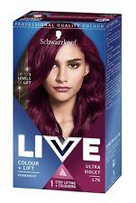 Schwarzkopf Live Intense Colour + Lift L76 ULTRA VIOLET Permanent
