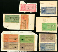 India States Early Revenue Stamp Pieces Collection