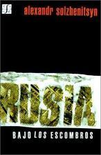 Rusia Bajo los Escombros by Aleksandr Solzhenitsyn (1999, Paperback)