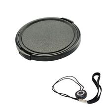 55mm Side Pinch Front Lens Cap+Lens Cap Holder-Canon Nikon Sony Pentax DSLR/SLR