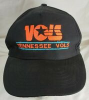 Vintage Tennessee Vols Hat SnapBack Spellout Black Summit Caps Bacon & Company