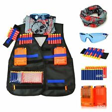 Tactical Vest Kit, Nerf, Kids, Toys, Outdoors, N-Strike, Extra, Clips, Ammo, NEW