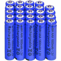 24x AAA 1800mAh 1.2V Ni-MH Rechargeable battery 3A Blue Cell for MP3 RC Toys