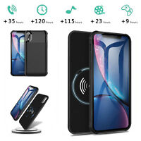 For iPhone X XR XS Max Wireless Battery Charger Case Power Bank Charging Cover
