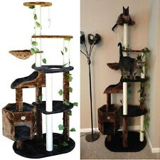 Pet Climber Scratcher Cat Tree Furniture Fun Play Sleep Kitten Wood Condo House
