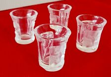 "Lalique French Crystal ""Les Enfants"" 4 Shot Glasses"