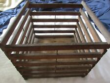 antique advertising wood EGG CRATE Humpty Dumpty Gummer Mfg. Cadillac, MI farm
