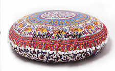 Indian Decorative Round Mandala Tapestry Floor Cushion Cover Poufs Home Decor