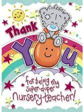Me To You Bear Thank You Nursery Teacher My Dinky Card