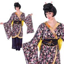 Womens Geisha Girl Costume Ladies Chinese Japanese Oriental Kimono Fancy Dress