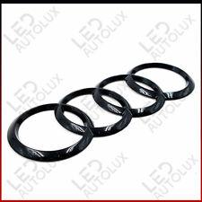 New Black Gloss Rear Back Badge Rings Logo Emblem Audi A3 A4 A5 A6 Sline 192x68