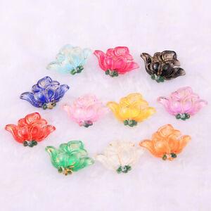 5-20pcs 18*24mm Phnom Penh Flowers Acylic Flatback Earring Jewelry Accessories