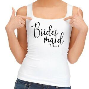Hen Party Vest   Personalised   Bridesmaid Wedding Morning Top