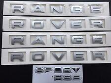 Silver Full Range Rover Sport HSE badge Lettrage Ensemble Pour Capot Hayon