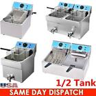 1/2 Tank Electric Deep Fryer Commercial Countertop Basket French Fry Restaurant  photo