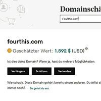 Fourthis.com Domain Homepage Onlineshop Webprojekt Wert 1500$ URL SEO USA TOP!