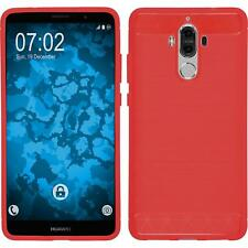 Silicone Case for Huawei Mate 9 Ultimate red + protective foils