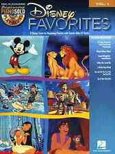 DISNEY SONGS Easy Beginner Piano Solo Playalong Sheet Music Book & Backing CD