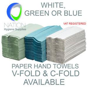 C-Fold Paper Hand Towels V-Fold Paper Hand towels White Green Paper Hand Towels