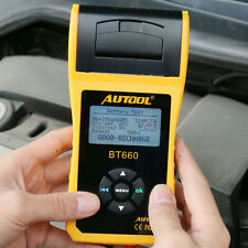 AUTOOL BT-660 Car Cranking Charging Battery System Tester with Printer 12V