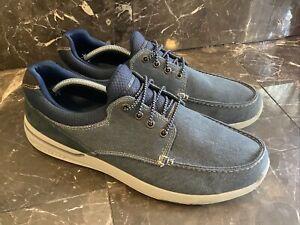 Skechers Elent Mosen Navy Blue SN 65493 Men's Boat Shoes  US Size 13~EUC