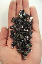 """Silver Shungite Elite Noble Stones Small 3/8"""" Crystals Rough Rocks 21g (SS7)"""