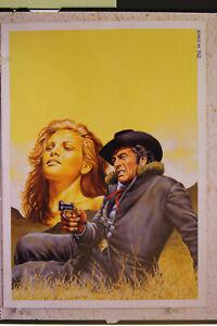 Originalzeichnung Günther König Titelbild Heft LOBO 66 Cover Gemälde Western