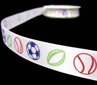 "5 Yds Blue All Star Sports Athlete Scrapbook Satin Ribbon 5//8/""W"