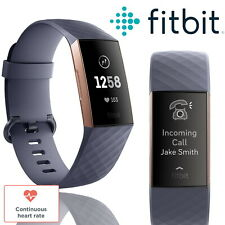 Fitbit Charge 3 Fitness Tracker Activity Band Blue Waterproof Heart Rate Watch