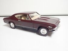 Ertl CHEVELLE 1968 SS396 CHEVY Maroon 1/18 DIECAST on Redlines and Rallys RARE