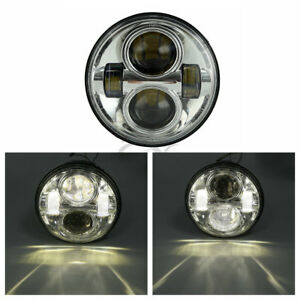 "7"" Hi/Lo LED Headlight Lamp For Harley Heritage Softail Fat Boy Road King 91-16"