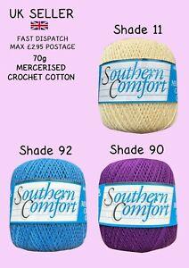 Twilleys Southern Comfort 70g Mercerised Cotton Crochet NEW Three Colours