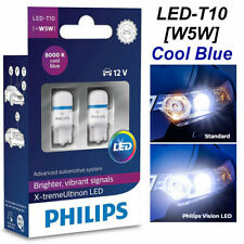 PHILIPS W5W T10 LED 8000K Xtreme Ultinon 360° Cool Blue White Bulbs 127998000KX2