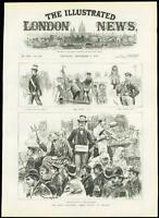 1889 Antique Print LONDON DOCKLANDS Dockers Strike Procession (256)