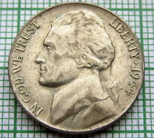 UNITED STATES 1944 P JEFFERSON WARTIME NICKEL - 5 CENTS, SILVER BETTER GRADE