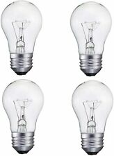 4 Pack A15/CL- 60Watt A15 Incandescent -Appliance Bulb-Clear Finish- Medium(E26)