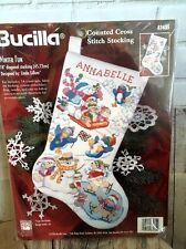 Bucilla Winter Fun Counted Cross Stitch Kit Stocking 83435 New Sealed Christmas
