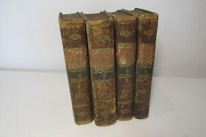Don Quixote De La Mancha x 4 volume leather set, 1808, Spanish