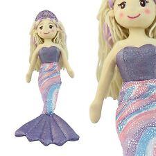 45cm Mermaid Princess Rag Doll Sparkling Tail Girls Soft Cuddly Toy Dolly Gift