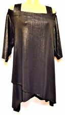 plus sz XS / 14 TS TAKING SHAPE Innocence Tunic antique gold cold shoulder NWT