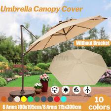 Garden 3x3M Banana Parasol Sun Umbrella Canopy Replacement Fabric Cover Outdoor