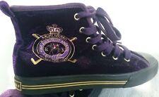 Ralph Lauren Chucks Schuhe 37 lila Samt schick edel einzigartig Marke