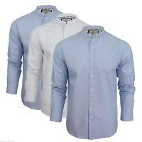 Mens Brave Soul Casual Shirts Button up  Top Grandad Collar Slim Fit Long S M L