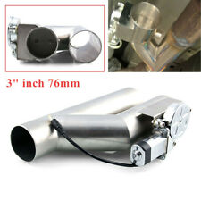 """3""""/76mm Exhaust Control E-Cut Out Dual Valve Electric Y Pipe with Remote Kit Set"""