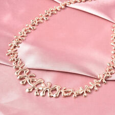 LucyQ Collar Necklace Size 20 in Rose Gold Plated Silver,