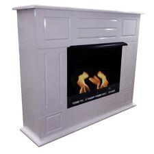 Gelkamin Ethanolkamin Kamin Fireplace Dion XXL Weiss inkl. 27 teil. Set
