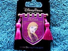 Disney * PRINCESS ANNA * Tapestry Banner Series * New on Card Trading Pin