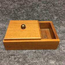 Vintage Rothschild Giftwoods Solid American Walnut Wooden Cigarette Smoking Box